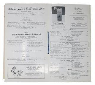 JOHN'S GRILL.; Steaks & Seafood. Cocktails.