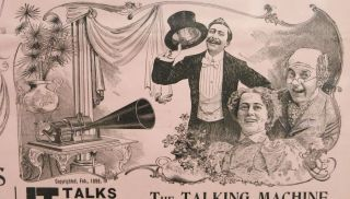 ALL ABOUT ALASKA. The KLONDIKE GOLD FIELDS And The WONDERFUL TALKING MACHINE To KLONDIKE And RETURN in One Hundred and Twenty Minutes, and Stop at All Principal Stations.; A Grand Illustrated Lecture and Musical Entertainment.