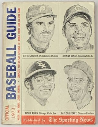 OFFICIAL BASEBALL GUIDE For 1973. Joe Marcin, Chris Roewe, Larry Wigge, Larry - Vickrey