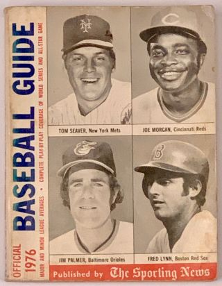 OFFICIAL BASEBALL GUIDE For 1976. Joe Marcin, Chris Roewe, Larry Wigge, Larry - Vickrey