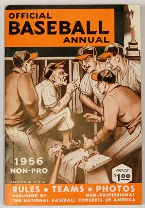 1956 OFFICIAL BASEBALL ANNUAL. Non - Pro; Rules • Teams • Photos Price $100. Baseball...