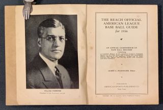 The REACH OFFICIAL AMERICAN LEAGUE BASE BALL GUIDE For 1936. Baseball, James C. - Isaminger