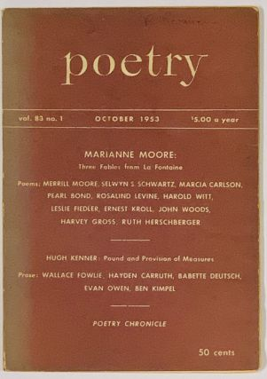 'Three Fables from La Fontaine' [as published in] POETRY. October, 1953. Vol. 83. No. 1....