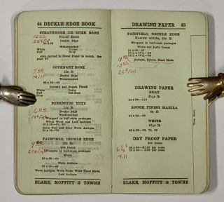 BLAKE MOFFITT & TOWNE. Paper Dealers. Lot of 11 Price Lists, 1913 - 1931 [9 pre-1919].