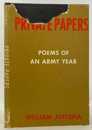 PRIVATE PAPERS.; Introduction by Witter Bynner. William. Bynner Justema, Witter - Contributor