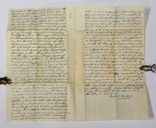 ALs [Autographed Letter Signed]. To Deacon Charles D. Francis in Pittsfield. October 30, 1833.