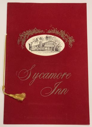 SYCAMORE INN. Restaurant Menu / Northern California