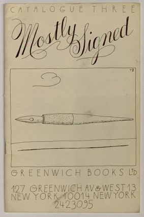 MOSTLY SIGNED. Catalogue Three. Greenwich Books Ltd. Allen - Cartoon Subject. Bailey Ginsberg,...