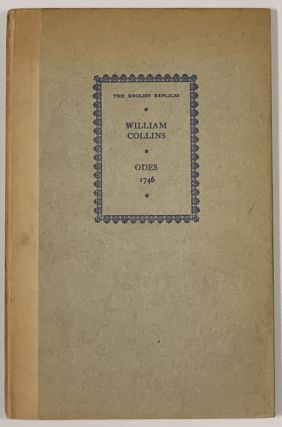 ODES On SEVERAL DESCRIPTIVE And ALLEGORIC SUBJECTS. William Collins, 1721 - 1759