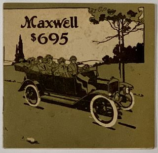 MAXWELL. New 1915 Model $695 with 17 New Features. Automotive Trade Catalogue