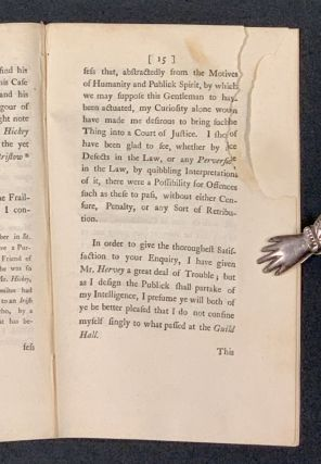 A LETTER To A GENTLEMAN In The COUNTRY, Concerning the Acquittal of JOSEPH HICKEY, Attorney, Upon an Indictment for Perjury, before the Lord Chief Justice Lee, on Thursday, the 11th Instant.