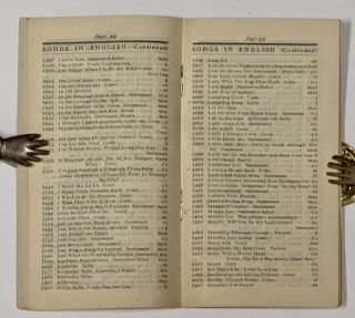 LIST Of EDISON RECORDS.; Echo all Over the World. Made at the Edison Laboratory. Form No. 150, Fall Season, 1900.