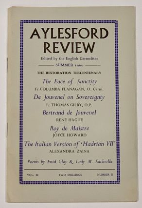 AYLESFORD REVIEW. Vol. III. Number II. Summer 1960. Lady - Contributor Sackville, argaret....