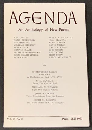 AGENDA. Vol. 18. No. 2. Summer 1980. William Cookson, Peter - Dale