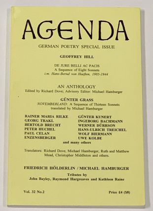 AGENDA. Vol. 32. No. 2. Summer 1994; German Poetry Special Issue. William Cookson, Peter -...