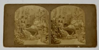"STEREOVIEW. LITTLE NELL. Vide - ""Old Curiosity Shop""; Albumen Photograph. Charles Dickens, 1812..."