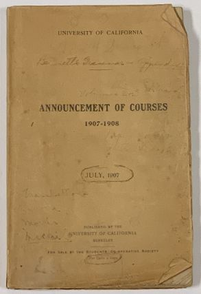 ANNOUNCEMENT Of COURSES Of INSTRUCTION In The COLLEGES Of LETTERS, SOCIAL SCIENCES, NATURAL...