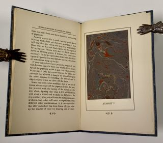 MODERN METHODS In MARBLING PAPER.; A Treatise for the Layman on the Art of Marbling Paper for Bookbinding and Other Decorative Uses, Including a Description of Several Practical Methods, with Illustrative Samples of Marbled Effects.