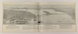 SOUVENIR VIEW BOOK Of SAN FRANCISCO.; Containing a Selection of Reproductions of Interesting Subjects from Photographs Taken by the Gabriel Moulin Studios, Famous California Photographers and Including a Bird's-Eye View of the Entire Bay Area from an Original Drawing by E. A. Burbank.