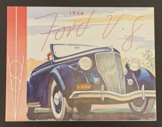 1936 FORD V • 8. Automotive Promotional Booklet