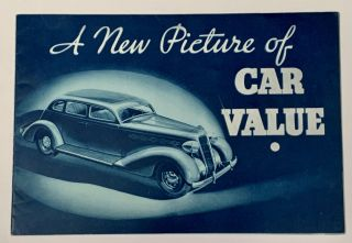 A NEW PICTURE Of CAR VALUE. 1935 Plymouth. Automotive Promotional Booklet