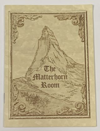 "The MATTERHORN ROOM. Promotional Booklet / Minnesota Local History, ""The Palmer Family"""