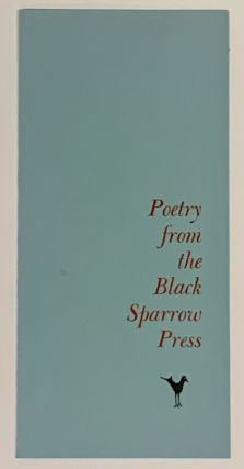 POETRY From The BLACK SPARROW PRESS. Publisher Price List / Order Blank