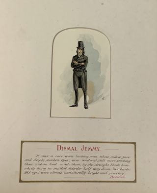 14 ORIGINAL WATER COLOR SKETCHES From DICKENS' WORKS By JCC.