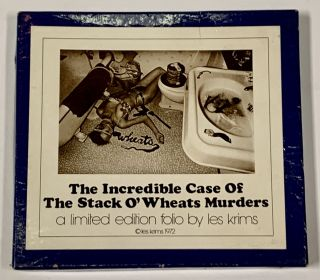 The INCREDIBLE CASE Of The STACK O'WHEATS MURDERS.; A Limited Edition Folio by Les Krims. Les ....