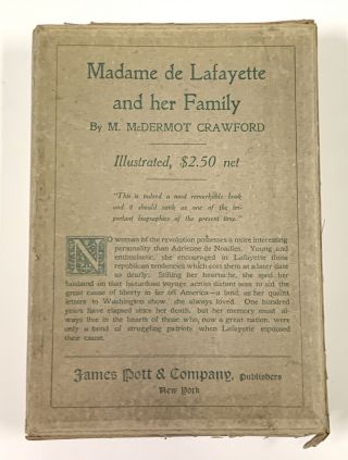 MADAME De LAFAYETTE And Her Family.