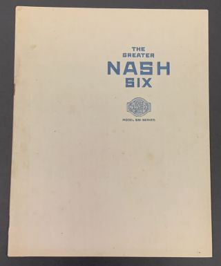 The GREATER NASH SIX. Model 691 Series.