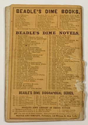 The MOOSE HUNTER; or, Life in the Maine Woods. Beadle's Dime Novels. No. 72.