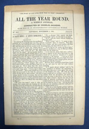 ALL THE YEAR ROUND. A Weekly Journal. No. 80. Saturday, November 3, 1860. Charles - Dickens,...